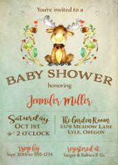 Moose Baby Shower Invitation