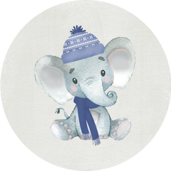 Winter Elephant Stickers