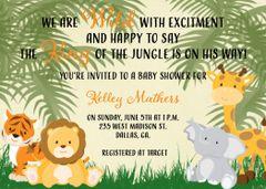Safari Baby Shower Invitation