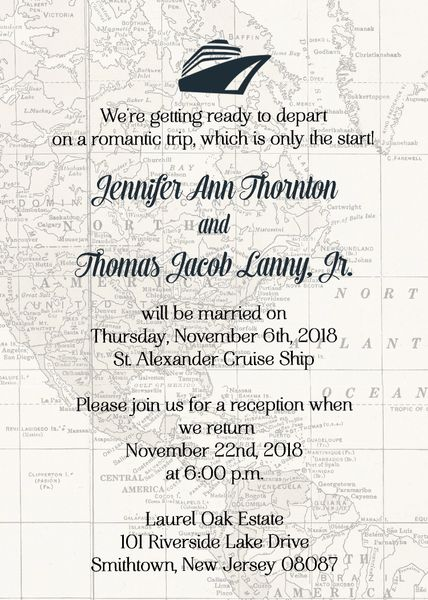 Cruiseship Wedding Invitation | Sugar & Spice Invitations Custom ...