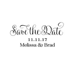 Save the Date Wood Stamp
