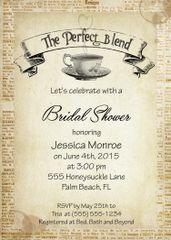 The Perfect Blend Bridal Shower Invitaiton