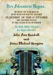 Classic Car Wedding Invitation