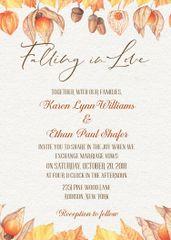 Falling in Love Wedding Invitation