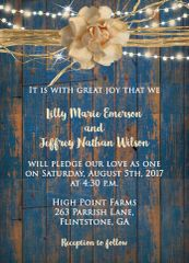 Rustic Country Lights Wedding Invitation