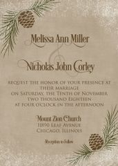 Pinecone Wedding Invitation