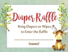 Diaper Raffle Card-Baby Moose