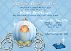 Cinderella Carriage Birthday Invitation