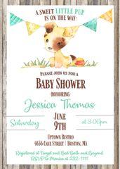 Little Pup Baby Shower Invitation