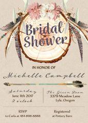 Bohemian Bridal Shower Invitation