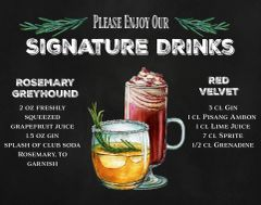 Signature Drink Menu