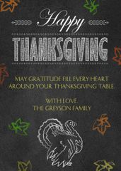 Thanksgiving Greeting Chalkboard Card
