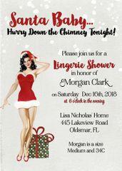 Santa Baby Christmas Party Invitation