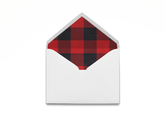 Buffalo Plaid Envelope
