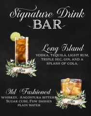 Signature Drink Bar Sign