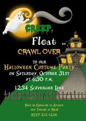 Creep, Float or Crawl Halloween Invitation