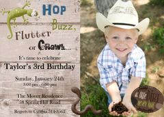 Bug Photo Birthday Invitation
