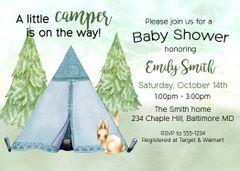 Little Camper Baby Shower Invitation