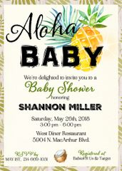 Aloha Baby Shower Invitation