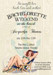 Beach Bachelorette Weekend Party Invitation