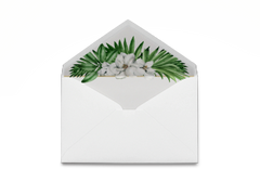 Tropical Floral Envelope