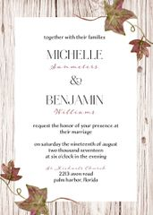 Fall Ivy Wedding Invitation