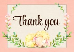 Baby Lamb Thank You Card