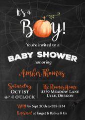 Halloween Boy Baby Shower Invitation