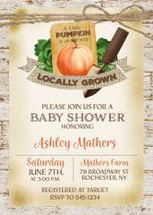 Garden Pumpkin Baby Shower Invitation