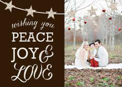 Peace, Joy & Love Greeting Card
