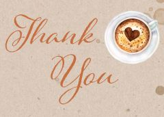 Coffee Thank You Card