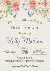 Watercolor Boho Floral Bridal Shower Invitation