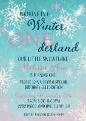 Winter Onederland Birthday Invitation