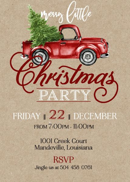 merry little christmas party invitation - Merry Little Christmas