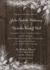 Snow Country Wedding Invitation