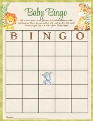 Baby Bingo Game Jungle