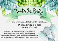Books for Baby Elephant SUCCULENTS