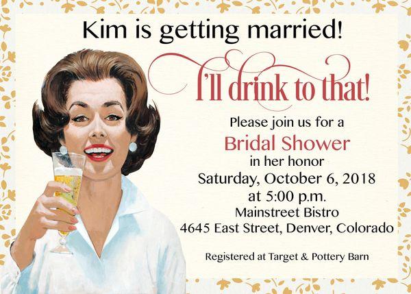 Retro bridal shower invitation sugar spice invitations custom retro bridal shower invitation filmwisefo