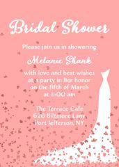 Hearts Bridal Shower Invitation