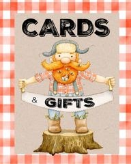 Little Lumberjack Cards and Gifts Sign