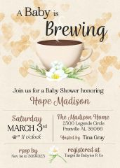 A Baby is Brewing Shower Invitation