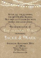 Hearts Engagement Invitation