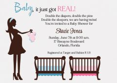 Baby it Just Got Real Twin Shower Invitation