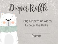 Diaper Raffle Card-Polar Bear