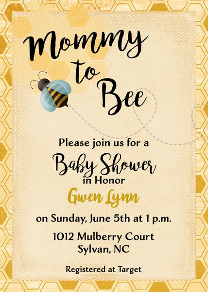 Mommy to bee vintage silhouette wedding invitation sugar spice mommy to bee baby shower invitation filmwisefo