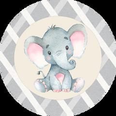 Elephant Pink Stickers