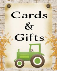 Tractor Cards and Gifts Sign