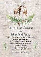 Winter Deer Wedding Invitation