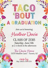 Taco Bout Graduation Invitation