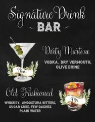 Signature Drinks Bar Sign